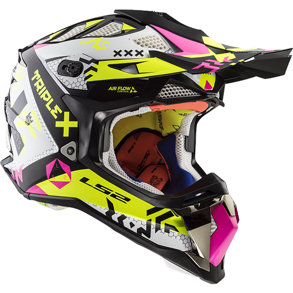LS2 MX470 SUBVERTER TRIPLEX BLACK PINK YELLOW